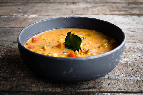 Thai Red Curry Served with Mung Bean Noodles