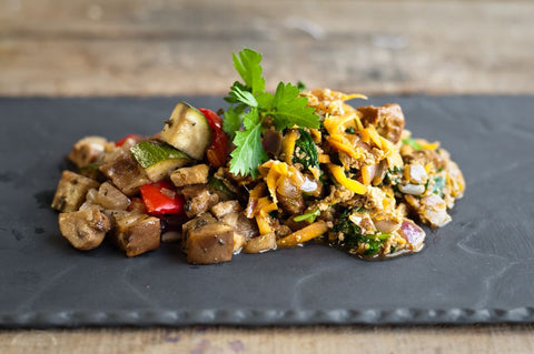 Roast Tofu with Mediterranean Vegetables