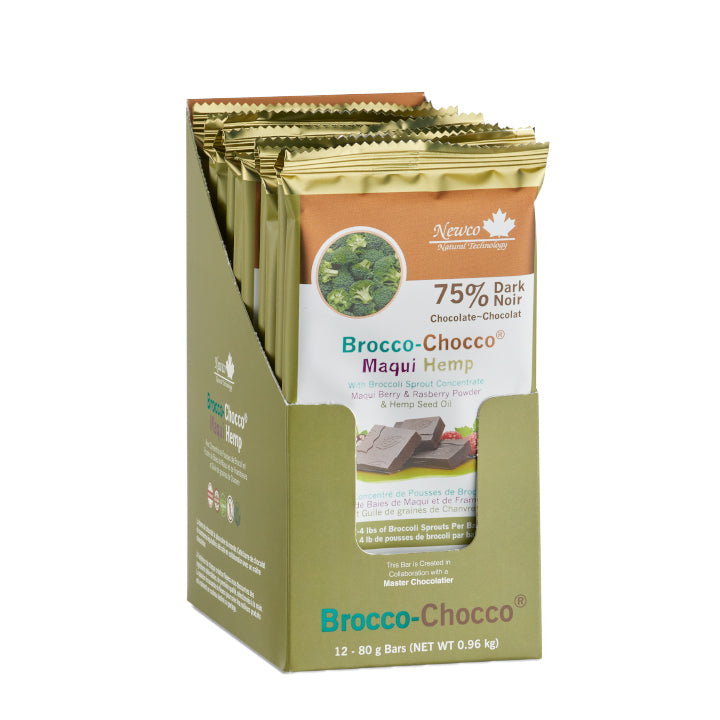 Brocco-Chocco® 75% Dark Maqui Hemp Certified Organic