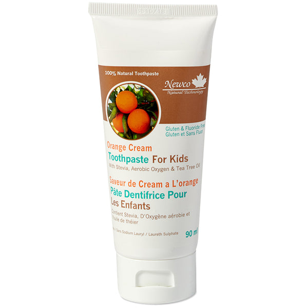 Orange Cream Fluoride Free Kids Toothpaste
