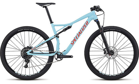 2018 Specialized Men's Epic Comp Gloss Light Blue/Rocket Red