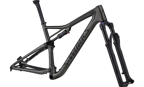 2018 Specialized Men's S-Works Epic Frameset Gloss Satin Charcoal Tint Carbon/Black