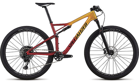 2018 Specialized Men's Epic Expert Gloss Gold Flake/Candy Red/Cosmic Black