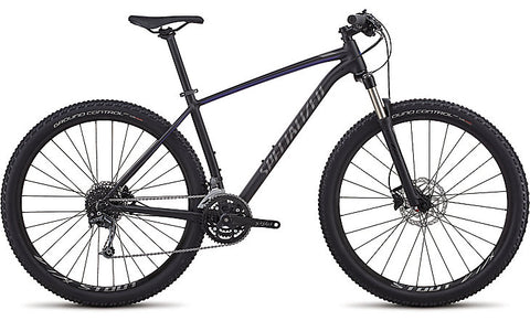 2018 Specialized Men's Rockhopper Expert Satin Gloss Tarmac Black/AC Blue/Charcoal