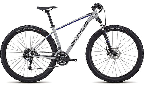 2018 Specialized Women's Rockhopper Comp Gloss Satin Filthy White/Acid Blue/Black
