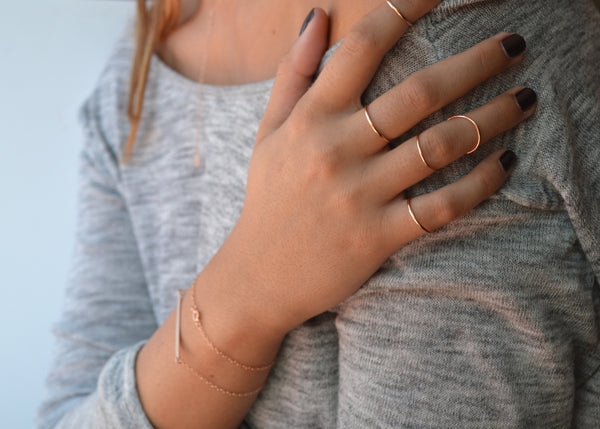 Rose Gold CÉCILE Knuckle Wrap Ring