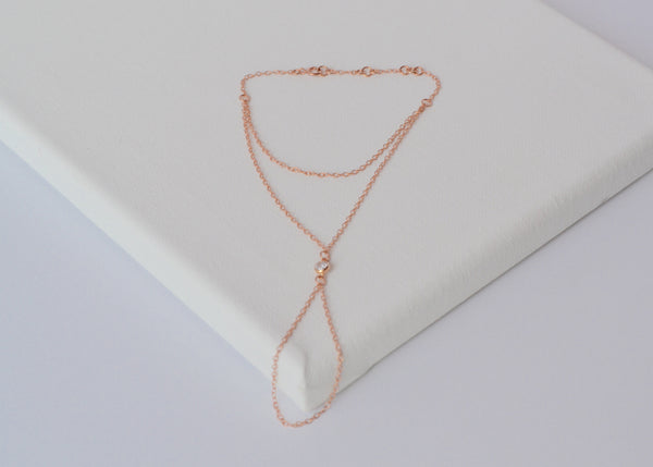 Rose Gold REMI Stone Hand Chain