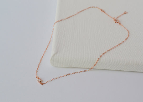 Rose Gold GIGI Stone Necklace