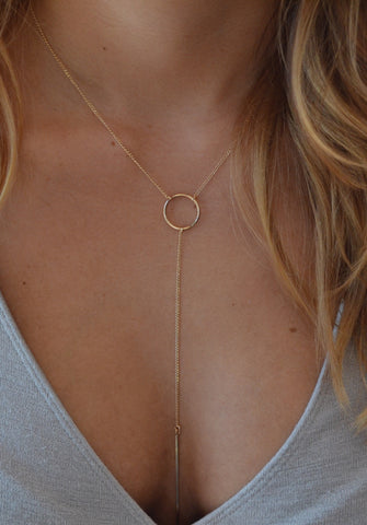 MAYA Circle Lariat Necklace