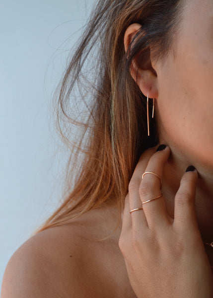 Rose Gold THERON Small Modern Hoop Earrings