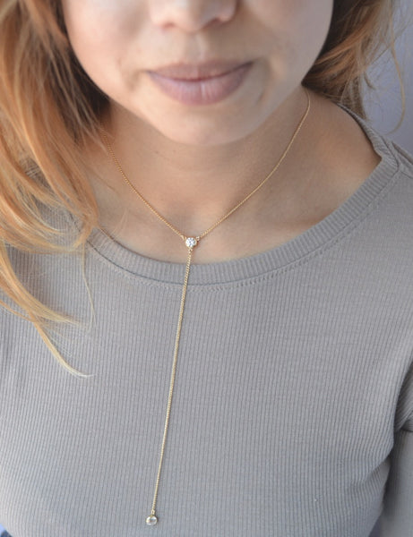 SOLENE Lariat Necklace