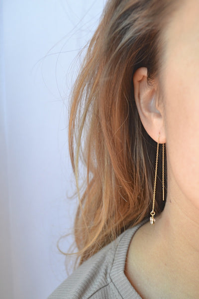 JOLIE Threader Earrings - LOULOUTE
