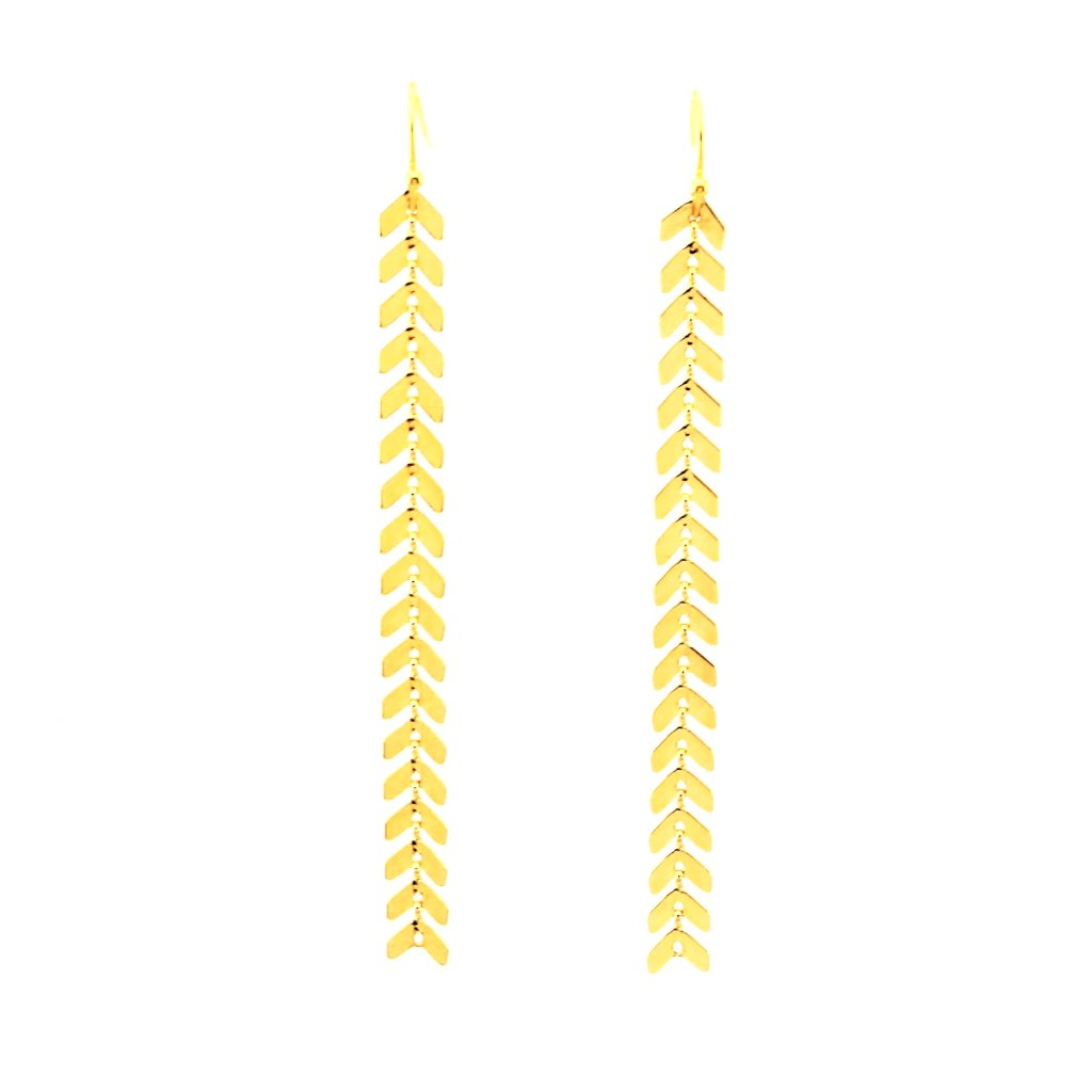 Fishbone Chain Earrings