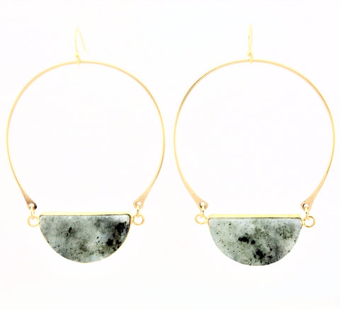 Carak Earrings- Labradorite
