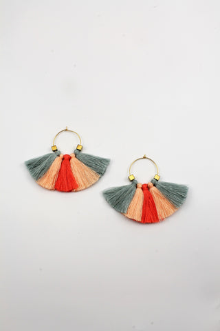 Tritassel Hoop Earrings