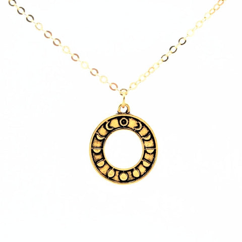Moon Circle Necklace