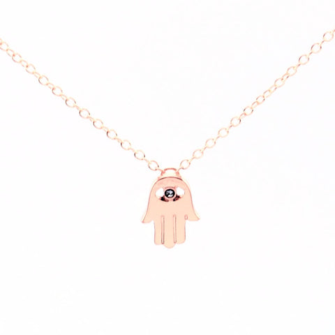 Hamsa Gem Necklace