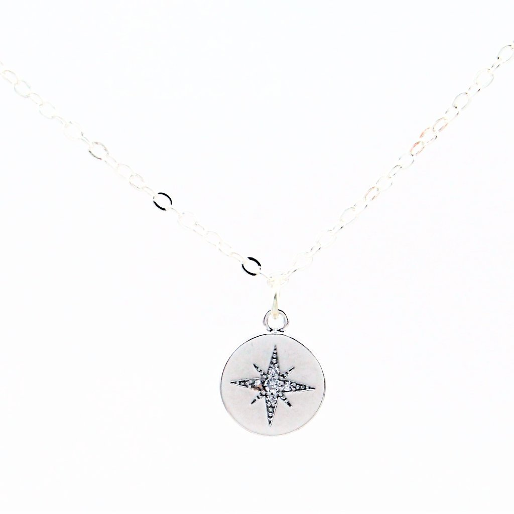 Pave Compass Necklace