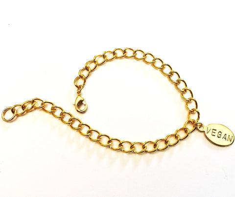 Vegan gold-plated bracelet