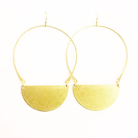 Brass Carak Earrings