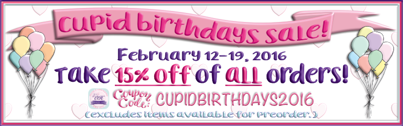 Cupid Birthday Sale!