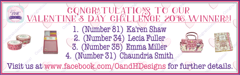 WINNERS for our Valentine's Day Challenge (...and how they were chosen!)