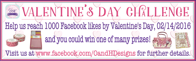 Orchids and Hummingbirds Designs, LLC's 2016 Valentine's Day Challenge!