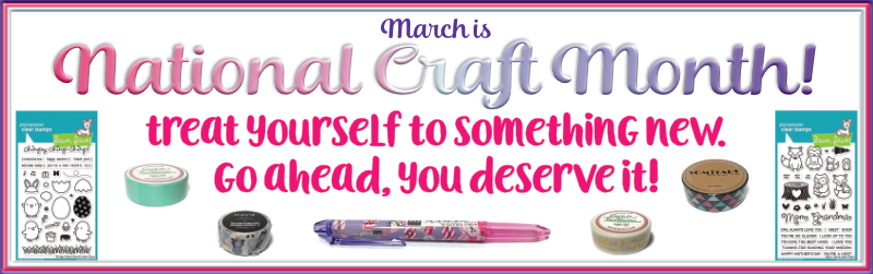 March is National Craft Month!  Go ahead and treat yourself to something new at OandHDesigns.com!