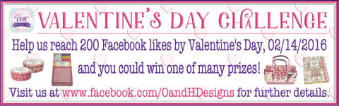 UPDATE:  Help us reach 200 Facebook likes by Valentine's Day, 02/14/2016 and you could win one of many prizes.  Please visit us at Facebook.com/oandhdesigns for more details.