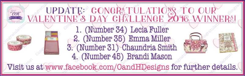 UPDATE:  Congratulations to our Valentine's Day Challenge 2016 Winners!