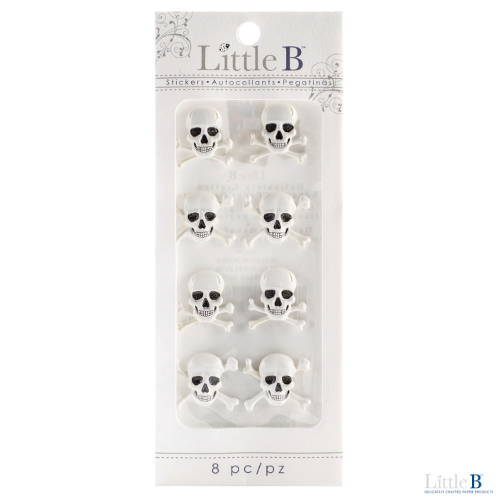 Little B Mini 3D Stickers - Skeleton Bones