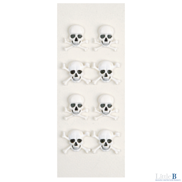 Little B Mini 3D Stickers - Skeleton Bones - Stickers - Little B - Orchids and Hummingbirds Designs, LLC