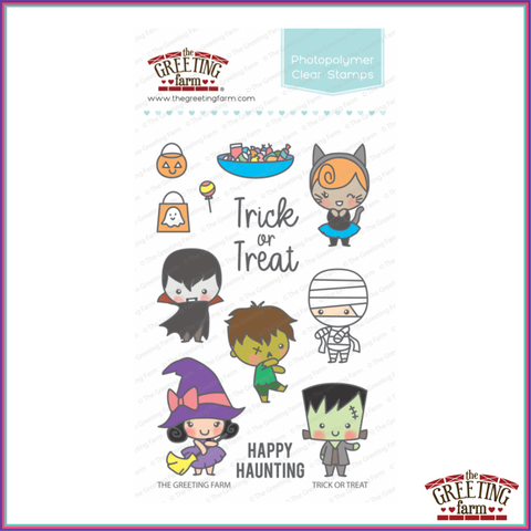 The Greeting Farm Trick or Treat Stamp Set - Stamps - The Greeting Farm - Orchids and Hummingbirds Designs, LLC