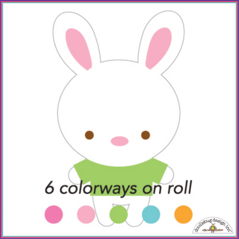 Doodlebug Bunnies Sweet Rolls Mini Icons Stickers