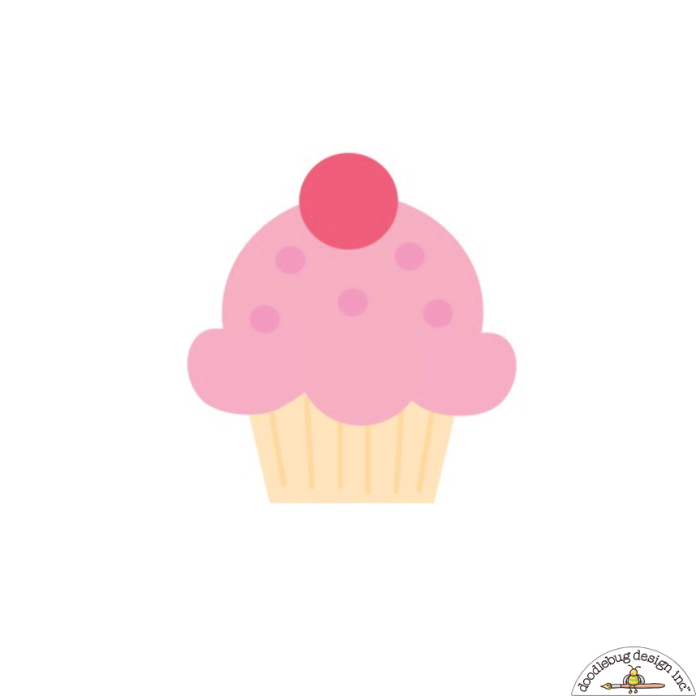 Doodlebug Cupcake Sweet Rolls Mini Icons Stickers - Stickers - Doodlebug - Orchids and Hummingbirds Designs, LLC