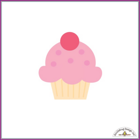 Doodlebug Cupcake Sweet Rolls Mini Icons Stickers - Orchids and Hummingbirds Designs, LLC