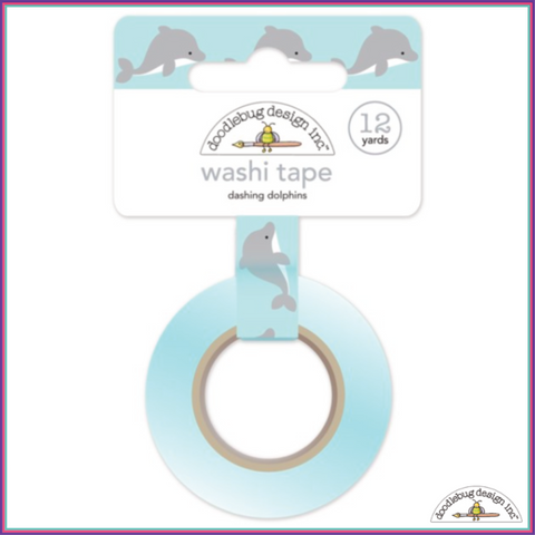Doodlebug Dashing Dolphins Washi Tape