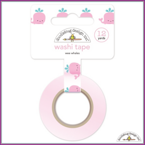 Doodlebug Wee Whales Washi Tape - Orchids and Hummingbirds Designs, LLC