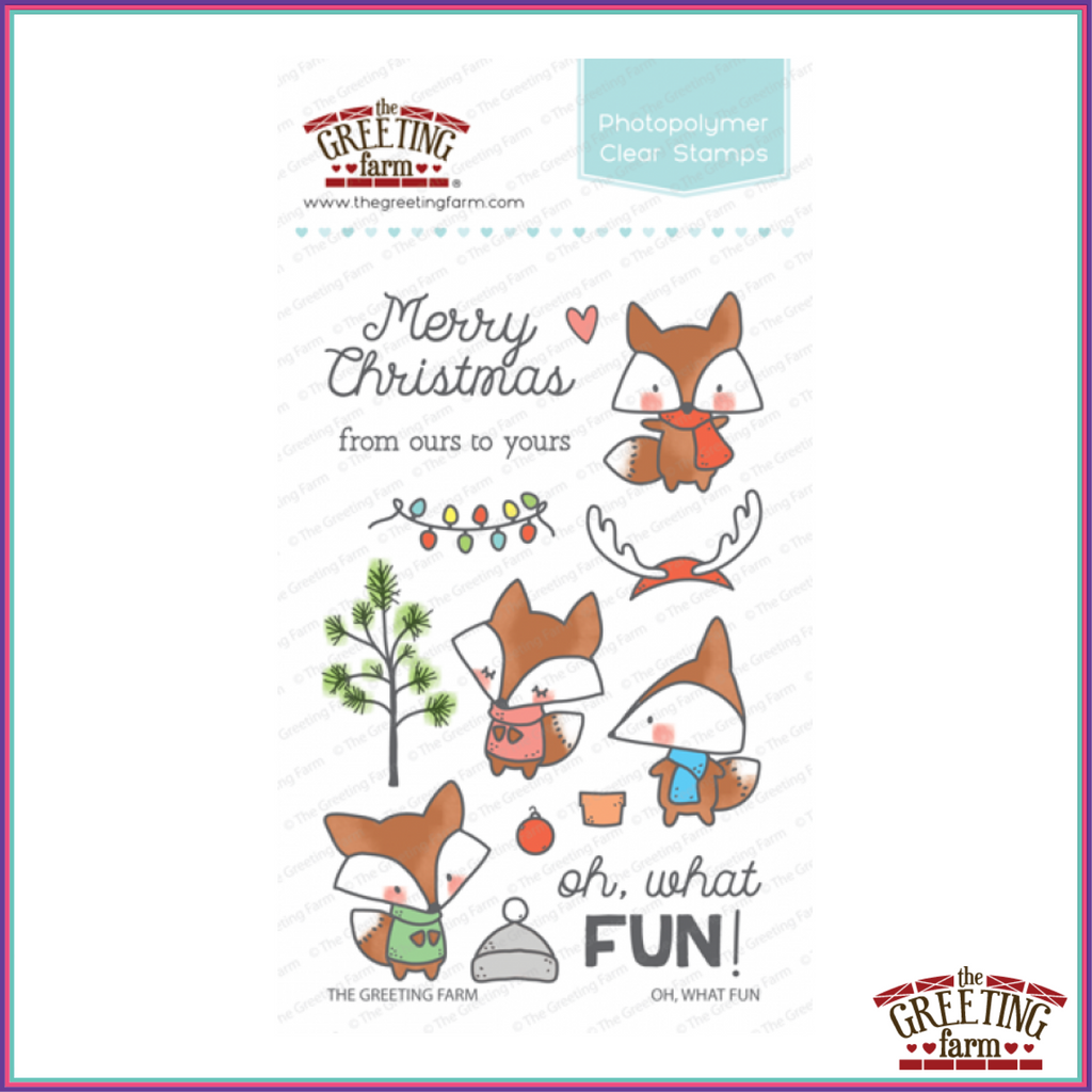 The Greeting Farm Oh, What Fun Stamp Set - Stamps - The Greeting Farm - Orchids and Hummingbirds Designs, LLC