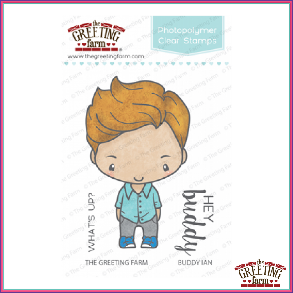 The Greeting Farm Buddy Ian Stamp Set - Stamps - The Greeting Farm - Orchids and Hummingbirds Designs, LLC
