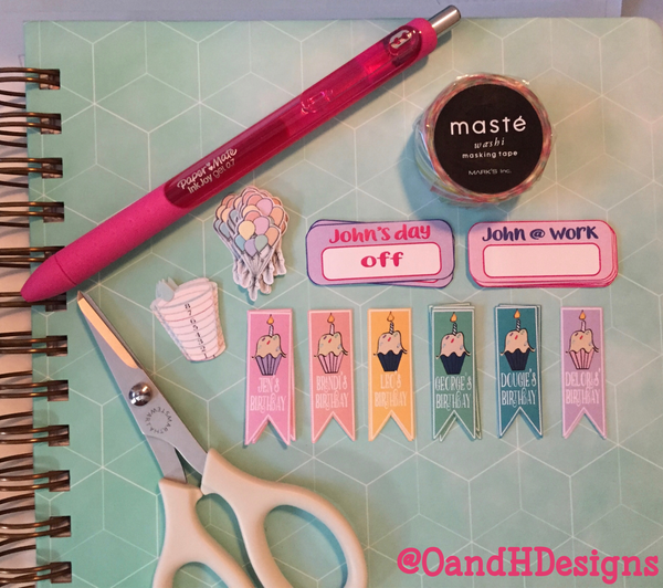 Custom:  Orchids and Hummingbirds Designs Planner Stickers - Stickers - Orchids and Hummingbirds Designs, LLC - Orchids and Hummingbirds Designs, LLC