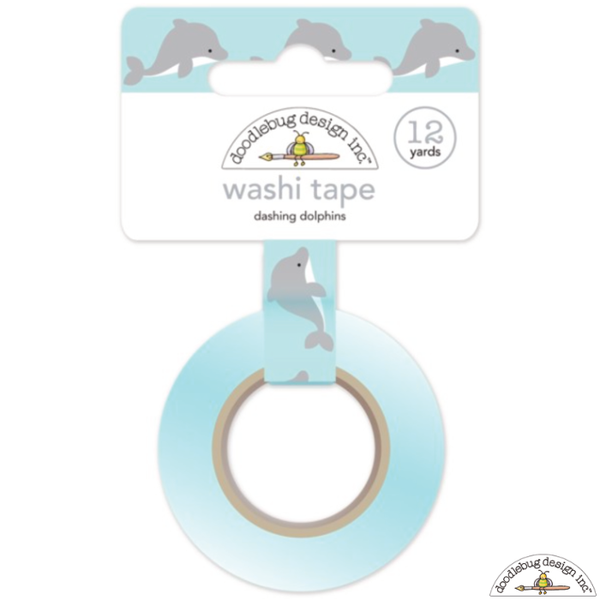 Doodlebug Dashing Dolphins Washi Tape - Washi Tape - Doodlebug - Orchids and Hummingbirds Designs, LLC