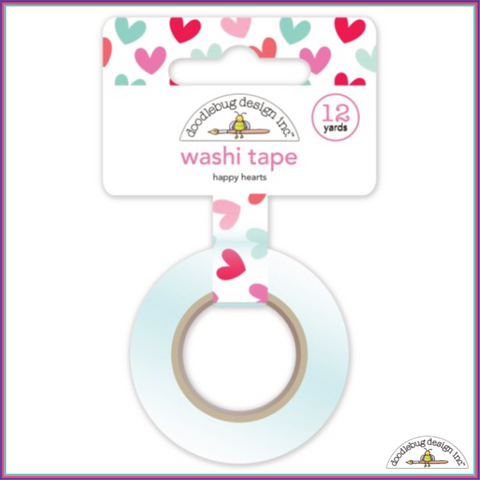 Doodlebug Happy Hearts Washi Tape - Washi Tape - Doodlebug - Orchids and Hummingbirds Designs, LLC