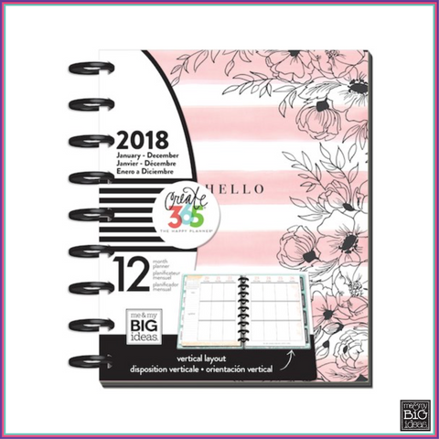 Create 365® - The Happy Planner® - 2018 CLASSIC Happy Planner® - Delicate Garden - Planners - Me & My Big Ideas (MAMBI) - Orchids and Hummingbirds Designs, LLC