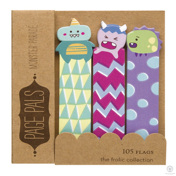 Girl of All Work Monster Parade Page Pals - Stationery - Girl of All Work - Orchids and Hummingbirds Designs, LLC