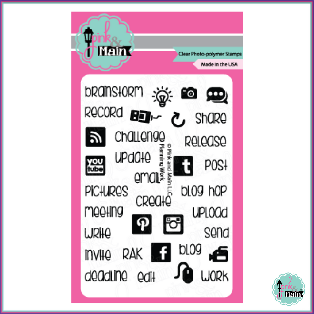 Pink & Main Planning Work Stamp Set - Stamps - Pink & Main - Orchids and Hummingbirds Designs, LLC