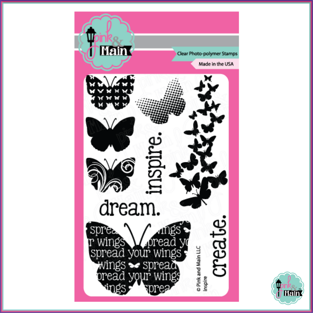 Pink & Main Inspire Stamp Set - Stamps - Pink & Main - Orchids and Hummingbirds Designs, LLC