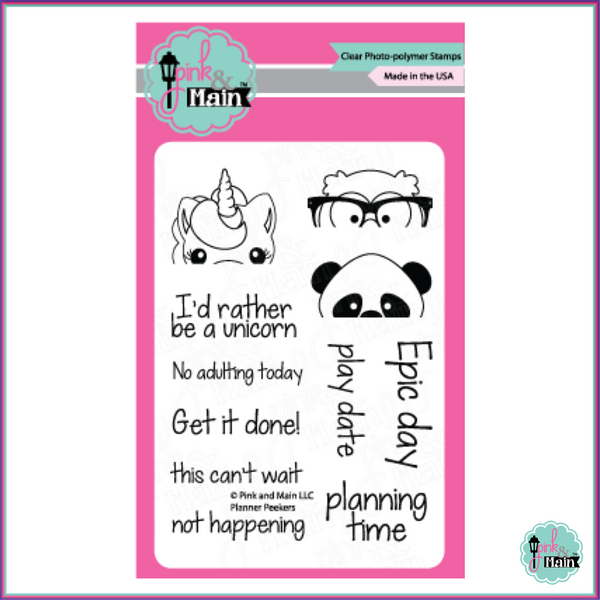 Pink & Main Planner Peekers Stamp Set - Stamps - Pink & Main - Orchids and Hummingbirds Designs, LLC