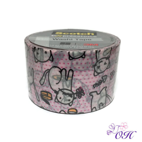 Scotch Cats Washi Tape - Orchids and Hummingbirds Designs, LLC