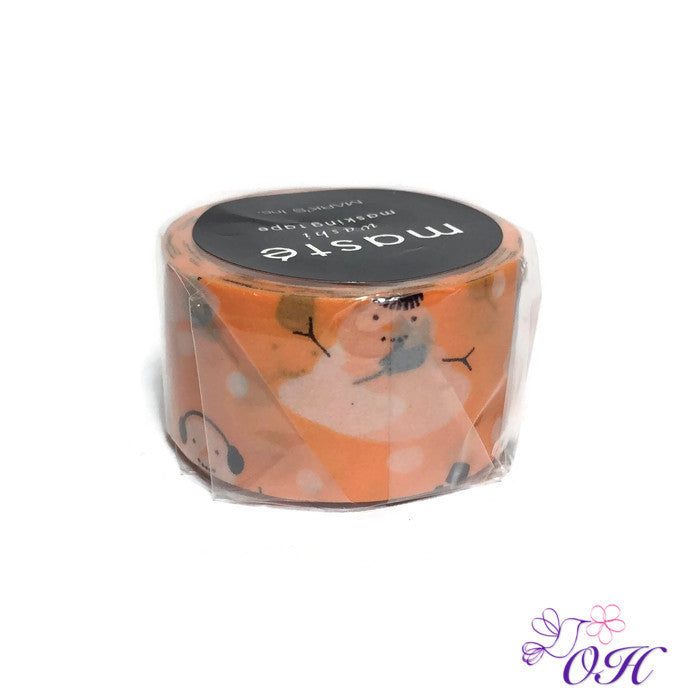 masté (Melting) Snowmen Washi Tape - Washi Tape - masté - Orchids and Hummingbirds Designs, LLC